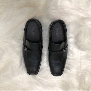Perry Ellis Portfolio kids black slip-on loafer